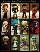 Plush Commissions by pheleon