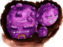 Weezing - Watercolor by the-figtree