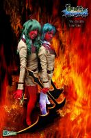 Scanty and Kneesocks by Lesliesalas