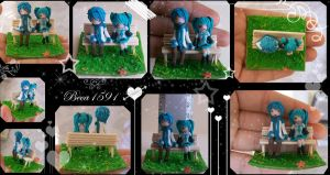 Kaito and Miku Clay by Beca1591