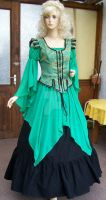 Medieval dress in green by Azinovic