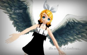 RinKagamineLoveLen's Contest - Angel of Darkness by Peachy-Pink10