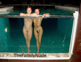 Poolside by thefamilynude