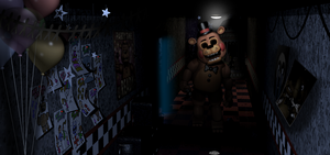 Guess who's back? (Toy Freddy in FNAF1) by Zacmariozero