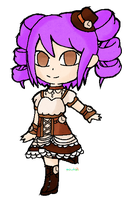 RQ: lavender haired steampunk lolita by Puccawitch