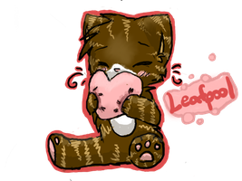 Chibi Leafpool with a pillow by elizzia