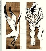 The Tiger and The Crane by Kassworkshop