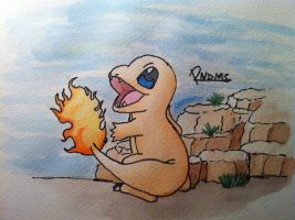 Kanto no. 004 Charmander by Randomous