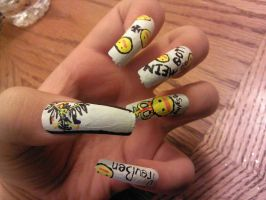 Hetalia Prussia Nails by Smutppet