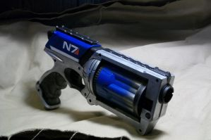 Blue Mass Effect Inspire Nerf Maverick by ViktorGraves