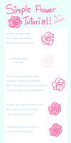 . Simple Flower Tutorial . by Fawniive