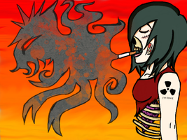 Zombie Girl- Make Ugly Contest by dei-saso-me