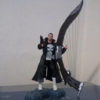The Punisher and a much larger WarHarp by OwossoHarpist
