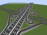 Minecraft Cloverleaf Interchange by JelmerNL