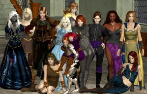 Women of Baldur's Gate by Coutelier