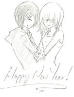 XionNami :: Happy New Year (: by FermonsNosYeux