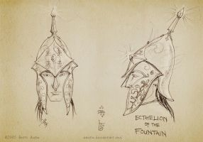 Sketch: Helm of Ecthelion by aautio