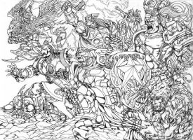 BnW AVENGERS INVADERS: LOST in WORLD of WARCRAFT by benbal