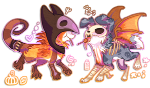 Hallosnuff and Jennaween by griffsnuff