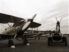 Hawker Hind with starter by davepphotographer