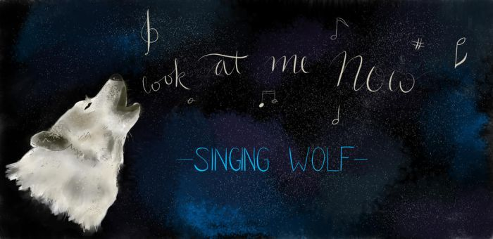 Request: Look At Me Now Singing Wolf (Night) by request-art
