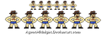 Saxton Hale Sprites by AgentMidnight