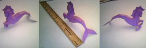 *REAL* SEAHORSE PAPERCRAFT FINISHED X3 by SilverFiredrake