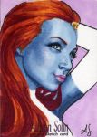 Mystique Sketch Card by AllisonSohn