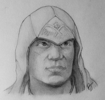 Assassin's Creed 3 - Connor Sketch 2 by MidnightCootie