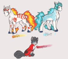 pokeformers: drift, blurr, perceptor by glowyrm