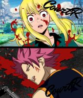 Fairy Tail: Natsu dies to protect Lucy by CourtR