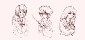 HP Little Magic Golden Trio by moogyAKA
