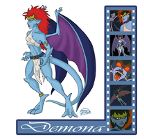 Gargoyle Study: Demona by evollusive