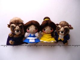 Beauty and the Beast Amigurumi set by AnyaZoe