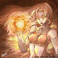 TT-Oekaki-Starfire in Orange by ramhay