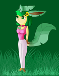 Rosemary the Leafeon by KendraTheShinyEevee