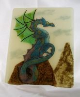 lookout dragon Frit Painting by FableDraconis