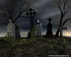 Free Stock Background:  Creepy Cemetery by ArtReferenceSource