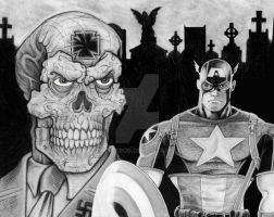 Cap and the Red Skull by GraphixRob