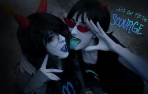 Homestuck - 5C0URG3 sisters ::::) by Valyna