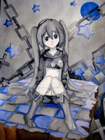 BlackRockShooter WaterColour by Love-The-Nekos