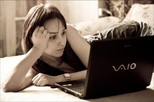 Girl with Sony VAIO by EqueChris
