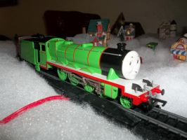 Henry on my Christmas Layout by Blockwave