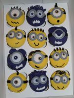 Minions and Evil Minions Cupcakes 2 by sparks1992