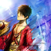 Luffy-san! - One piece - Following a dream by Elilian