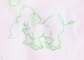 elephant sketch by VACANAL