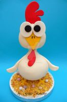 3D Chicken Cake by ginas-cakes