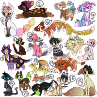 50 point mixed adoptables (3/19 OPEN) by TlMU