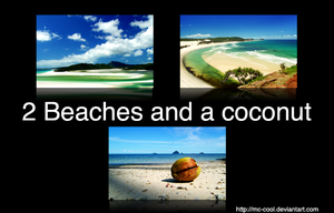2 Beaches and a Coconut by mc-cool