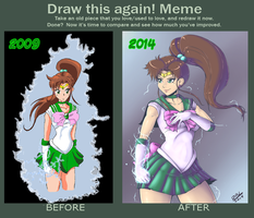 Sailor Jupiter Old and New by RandomBoobGuy-dA